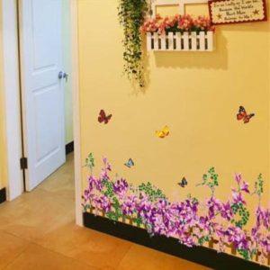 玄関に最適 背の低い植物のステッカー