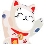 招き猫の開運ウォールステッカー