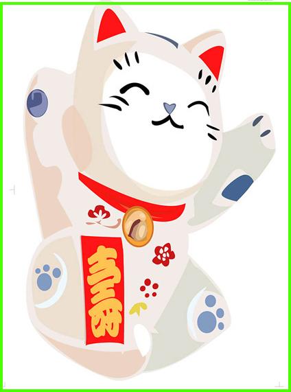 招き猫のステッカー